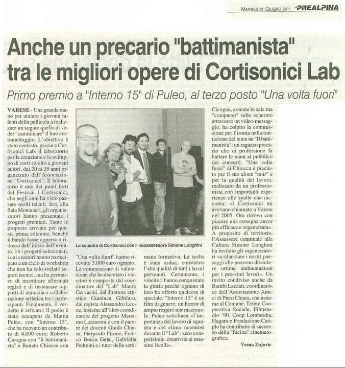 Cortisonici LAB - Prealpina 21 giungo 2011