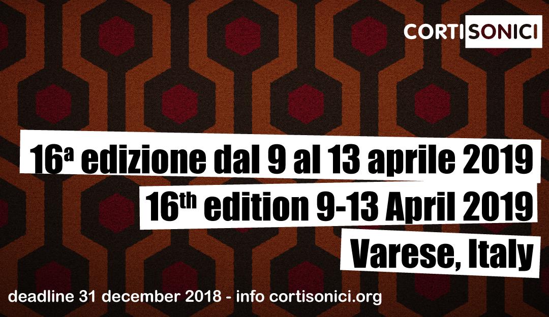 Dal 9 al 13 aprile 2019 la 16° edizione del festival Cortisonici
